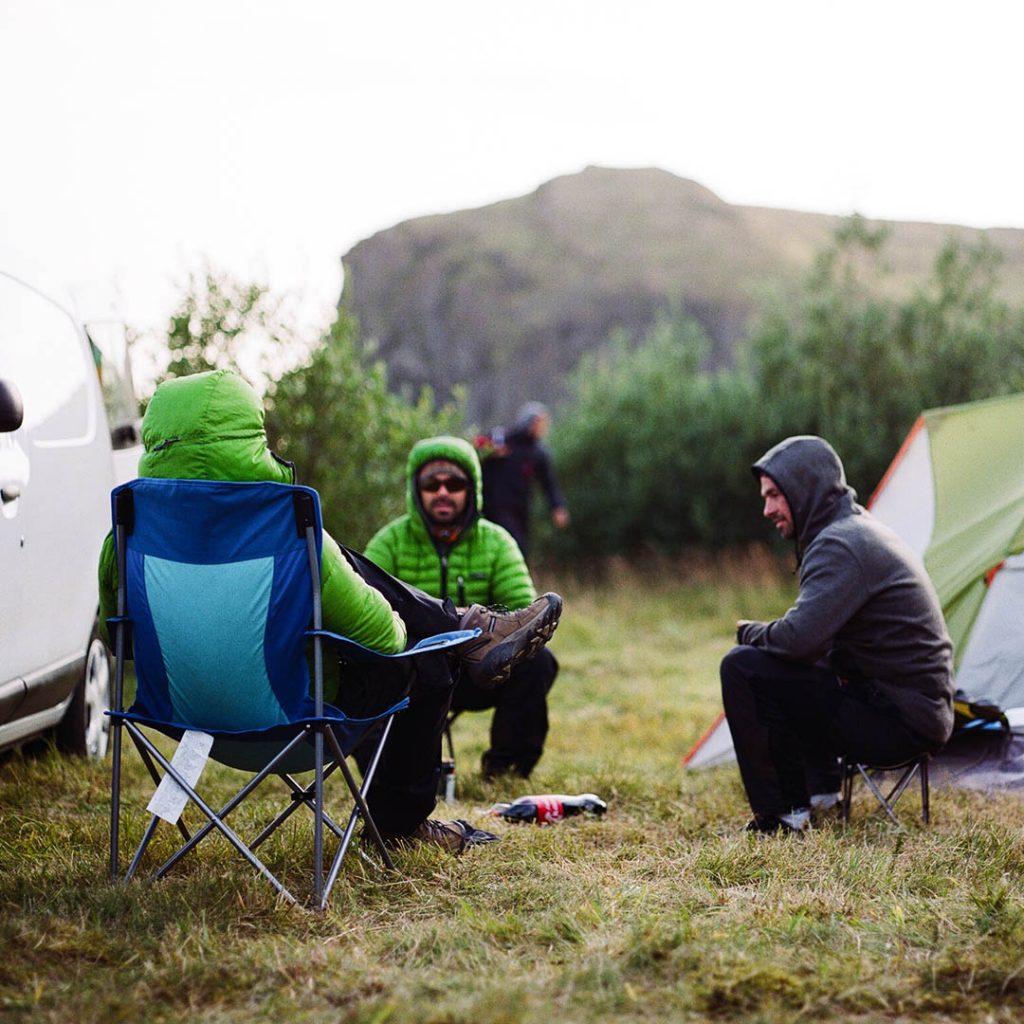 scout paramotor camping