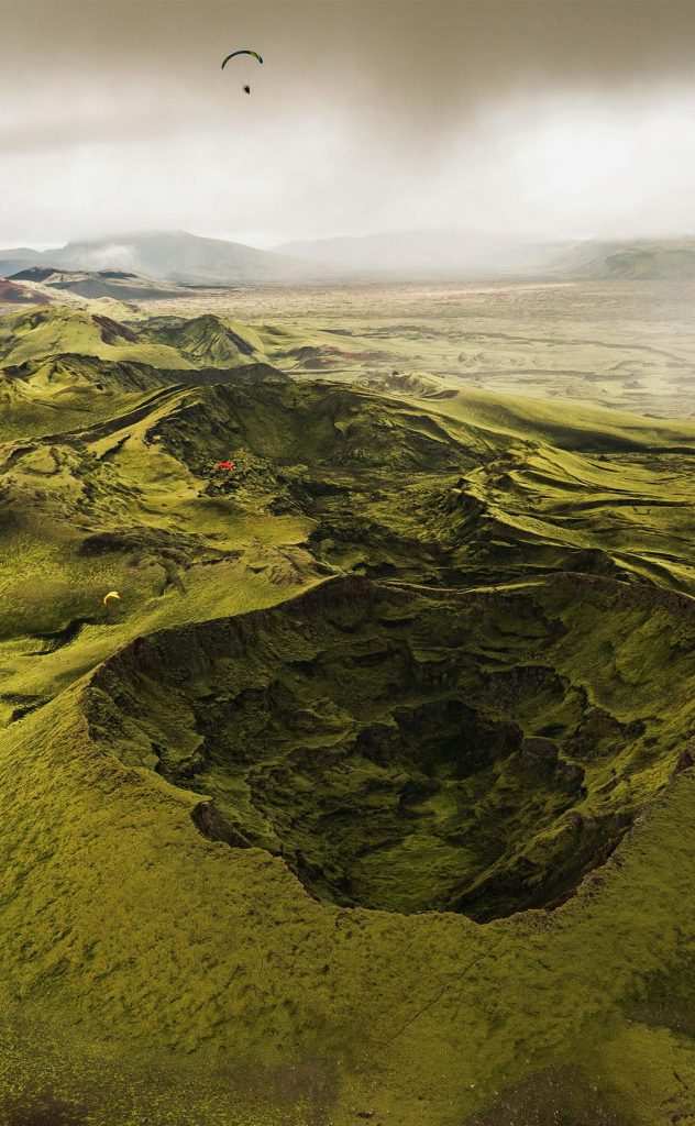 iceland paramotor craters