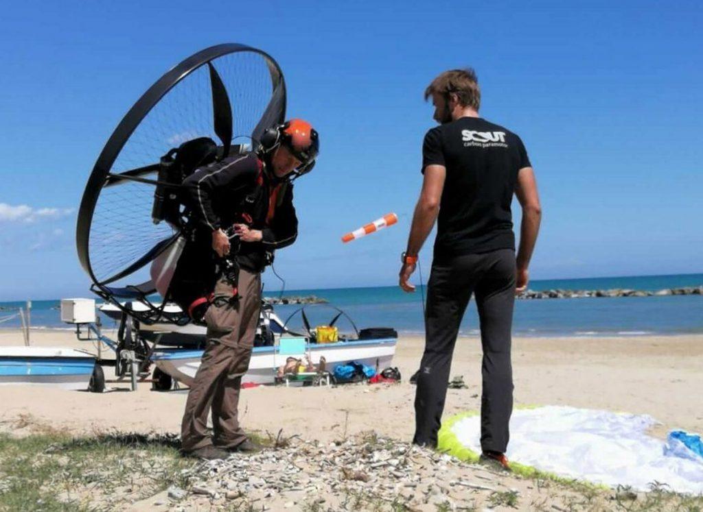 paramotor training beach