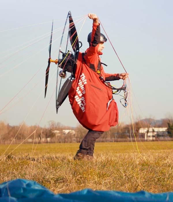 paragliding pod harness