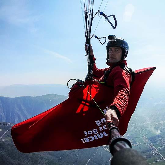 convertible paragliding pod harness