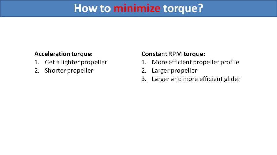 how to minimize paramotor torque