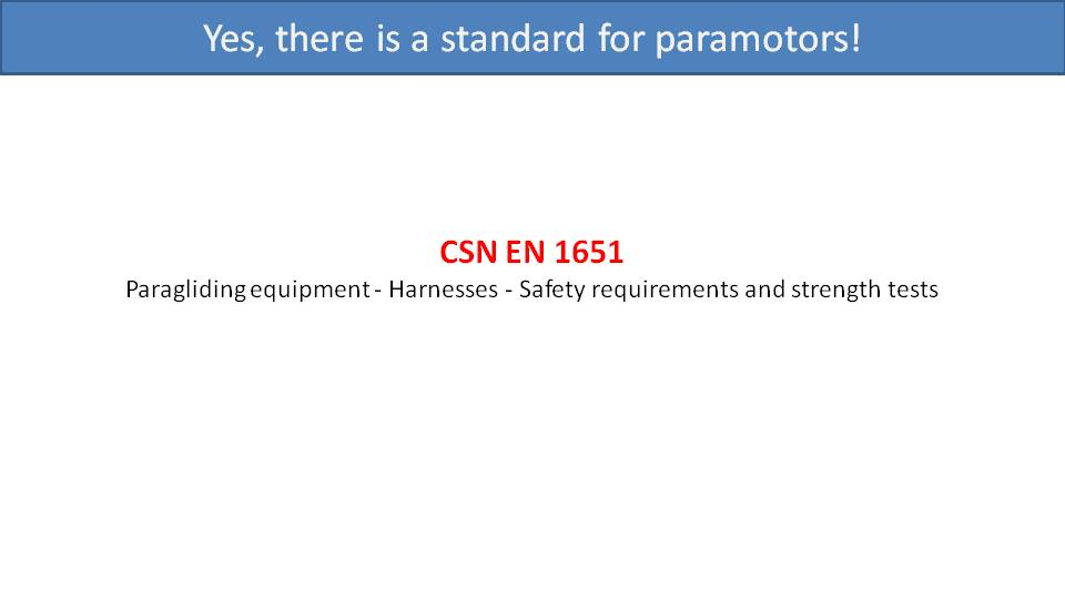 Load Testing and Certification of Paramotors