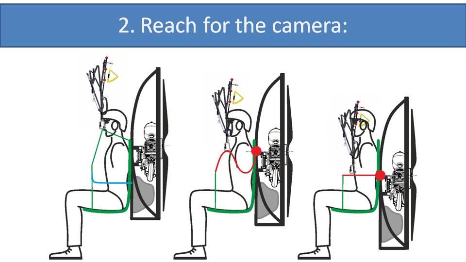 paramotor camera reaching
