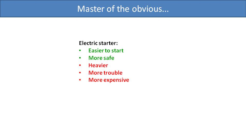 Manual or Electric Starter for Paramotor 2