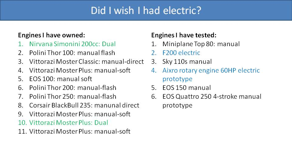 Manual or Electric Starter for Paramotor 3