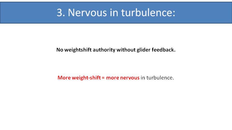 paramotor nervous in turbulence