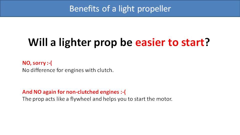 Paramotor Propeller Weight 3