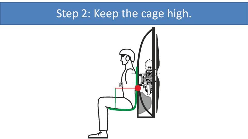 paramotor low suspension low cage